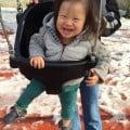 Max on swing at playground