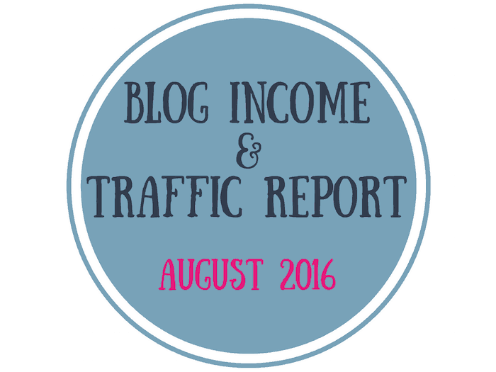 Mommy to Max - Blog Income & Traffic Report - August 2016